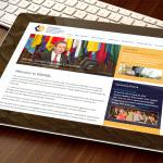 ISRHML Web Site Design Tablet
