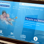 The Swim School Web Site Design Laptop