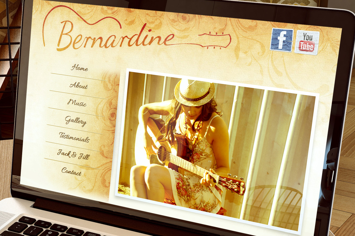 Bernardine Music Web Site Design