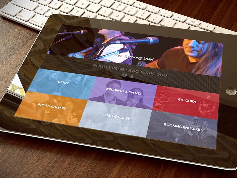 Everlong Band Web Site iPad