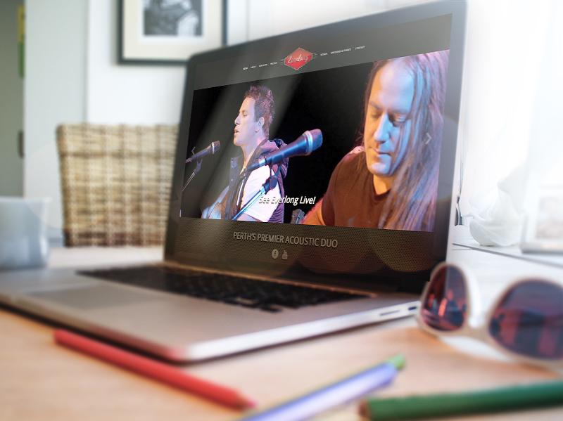 Everlong Band Web Site Laptop